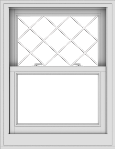 WDMA 28x36 (27.5 x 35.5 inch)  Aluminum Single Double Hung Window with Diamond Grids