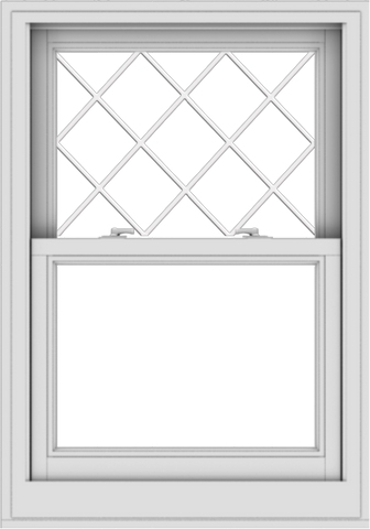 WDMA 28x40 (27.5 x 39.5 inch)  Aluminum Single Double Hung Window with Diamond Grids
