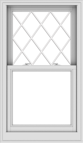 WDMA 28x48 (27.5 x 47.5 inch)  Aluminum Single Double Hung Window with Diamond Grids