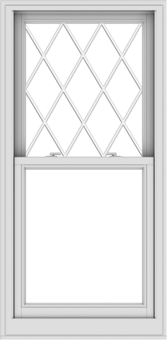 WDMA 28x57 (27.5 x 56.5 inch)  Aluminum Single Double Hung Window with Diamond Grids