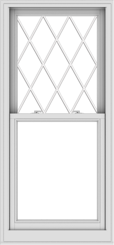 WDMA 28x60 (27.5 x 59.5 inch)  Aluminum Single Double Hung Window with Diamond Grids