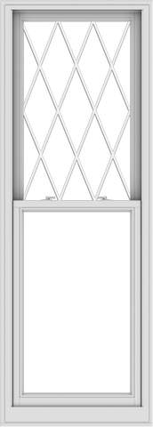 WDMA 28x78 (27.5 x 77.5 inch)  Aluminum Single Double Hung Window with Diamond Grids