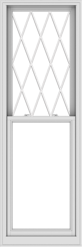 WDMA 28x84 (27.5 x 83.5 inch)  Aluminum Single Double Hung Window with Diamond Grids