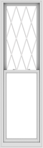 WDMA 28x96 (27.5 x 95.5 inch)  Aluminum Single Double Hung Window with Diamond Grids