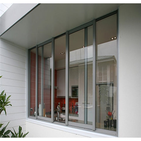 3 tracks sliding window double glazed aluminum sliding windows drawing on China WDMA