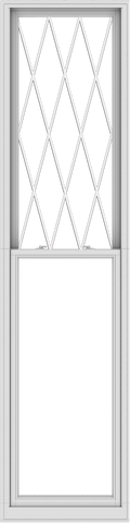 WDMA 30x120 (29.5 x 119.5 inch)  Aluminum Single Double Hung Window with Diamond Grids