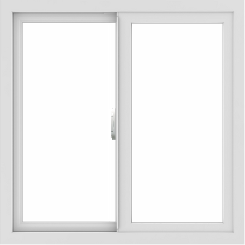 WDMA 30x30 (29.5 x 29.5 inch) Vinyl uPVC White Slide Window without Grids Interior