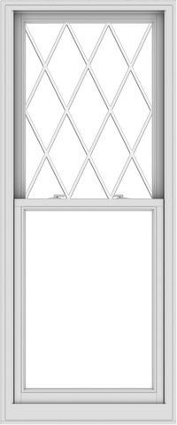 WDMA 30x72 (29.5 x 71.5 inch)  Aluminum Single Double Hung Window with Diamond Grids