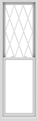 WDMA 30x96 (29.5 x 95.5 inch)  Aluminum Single Double Hung Window with Diamond Grids