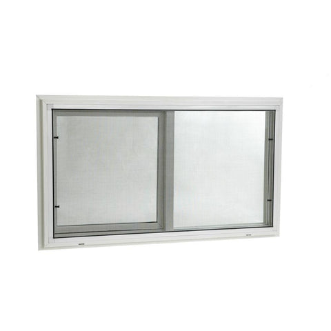 32x20 31.75x19.75 Sliding Window Vinyl White With Dual Pane Insulated Glass