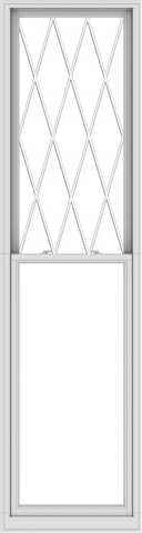 WDMA 32x120 (31.5 x 119.5 inch)  Aluminum Single Double Hung Window with Diamond Grids