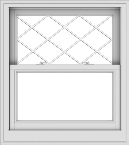 WDMA 32x36 (31.5 x 35.5 inch)  Aluminum Single Double Hung Window with Diamond Grids
