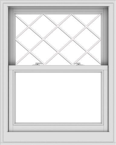 WDMA 32x40 (31.5 x 39.5 inch)  Aluminum Single Double Hung Window with Diamond Grids