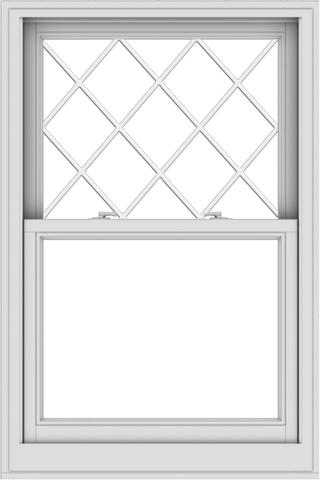 WDMA 32x48 (31.5 x 47.5 inch)  Aluminum Single Double Hung Window with Diamond Grids
