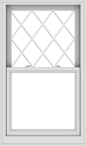 WDMA 32x54 (31.5 x 53.5 inch)  Aluminum Single Double Hung Window with Diamond Grids