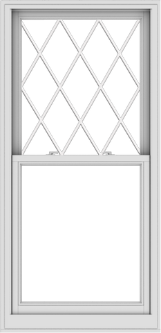 WDMA 32x66 (31.5 x 65.5 inch)  Aluminum Single Double Hung Window with Diamond Grids
