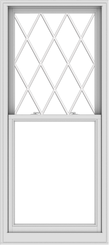 WDMA 32x72 (31.5 x 71.5 inch)  Aluminum Single Double Hung Window with Diamond Grids