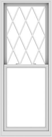 WDMA 32x84 (31.5 x 83.5 inch)  Aluminum Single Double Hung Window with Diamond Grids