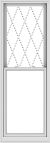 WDMA 32x90 (31.5 x 89.5 inch)  Aluminum Single Double Hung Window with Diamond Grids