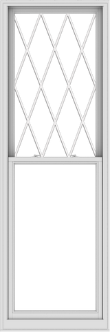 WDMA 32x96 (31.5 x 95.5 inch)  Aluminum Single Double Hung Window with Diamond Grids