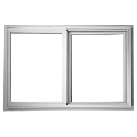 34x34 33.25x33.25 Sliding Aluminum Window White Low-E Glass With Screen