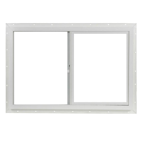 36x24 35.5x23.5 Slider Window Vinyl White Dual Pane Insulated Glass and Screen