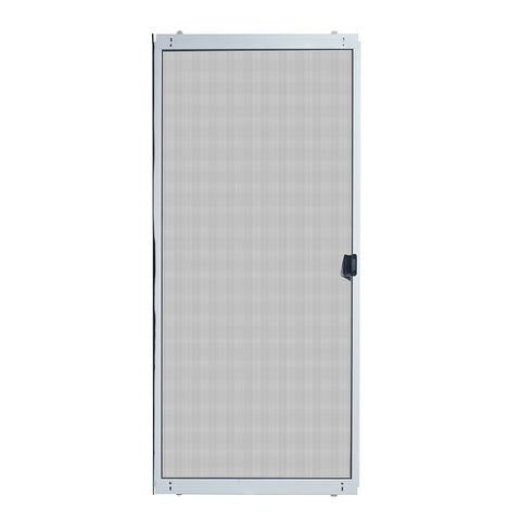 36 in. x 80 in. Adjustable Fit White Metal Sliding Patio Screen Door on China WDMA