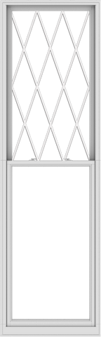 WDMA 36x120 (35.5 x 119.5 inch)  Aluminum Single Double Hung Window with Diamond Grids