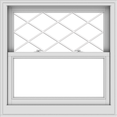 WDMA 34x34 (33.5 x 33.5 inch)  Aluminum Single Double Hung Window with Diamond Grids