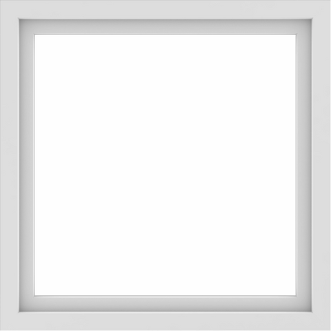 WDMA 34x34 (33.5 x 33.5 inch) Vinyl uPVC White Picture Window without Grids-1