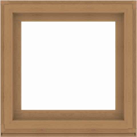 WDMA 34x34 (33.5 x 33.5 inch) Composite Wood Aluminum-Clad Picture Window without Grids-1