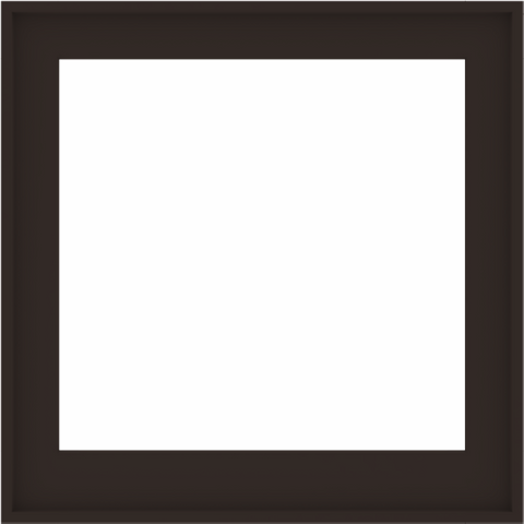 WDMA 34x34 (33.5 x 33.5 inch) Composite Wood Aluminum-Clad Picture Window without Grids-6