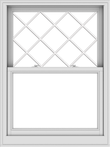 WDMA 36x48 (35.5 x 47.5 inch)  Aluminum Single Double Hung Window with Diamond Grids
