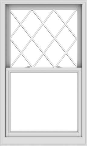 WDMA 36x60 (35.5 x 59.5 inch)  Aluminum Single Double Hung Window with Diamond Grids