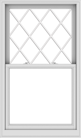 WDMA 36x61 (35.5 x 60.5 inch)  Aluminum Single Double Hung Window with Diamond Grids