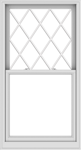 WDMA 36x66 (35.5 x 65.5 inch)  Aluminum Single Double Hung Window with Diamond Grids