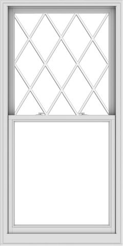 WDMA 36x72 (35.5 x 71.5 inch)  Aluminum Single Double Hung Window with Diamond Grids