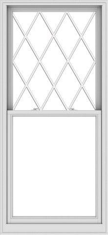 WDMA 36x78 (35.5 x 77.5 inch)  Aluminum Single Double Hung Window with Diamond Grids