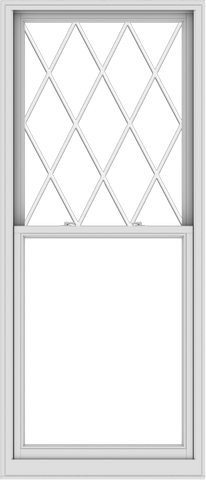 WDMA 36x84 (35.5 x 83.5 inch)  Aluminum Single Double Hung Window with Diamond Grids