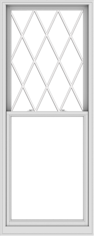 WDMA 36x90 (35.5 x 89.5 inch)  Aluminum Single Double Hung Window with Diamond Grids