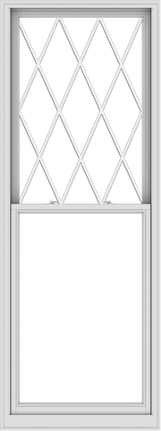 WDMA 36x96 (35.5 x 95.5 inch)  Aluminum Single Double Hung Window with Diamond Grids