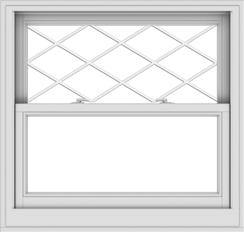 WDMA 38x36 (37.5 x 35.5 inch)  Aluminum Single Double Hung Window with Diamond Grids