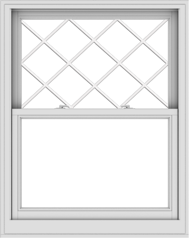 WDMA 38x48 (37.5 x 47.5 inch)  Aluminum Single Double Hung Window with Diamond Grids