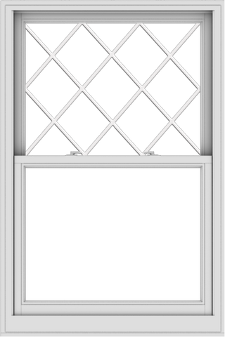 WDMA 38x57 (37.5 x 56.5 inch)  Aluminum Single Double Hung Window with Diamond Grids