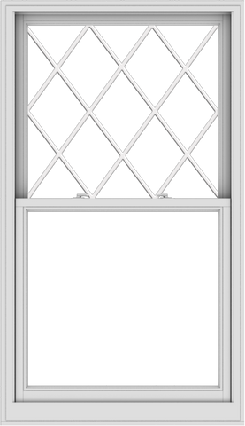 WDMA 38x66 (37.5 x 65.5 inch)  Aluminum Single Double Hung Window with Diamond Grids