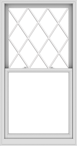 WDMA 38x72 (37.5 x 71.5 inch)  Aluminum Single Double Hung Window with Diamond Grids