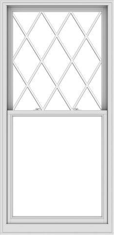 WDMA 38x78 (37.5 x 77.5 inch)  Aluminum Single Double Hung Window with Diamond Grids