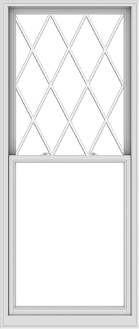 WDMA 38x90 (37.5 x 89.5 inch)  Aluminum Single Double Hung Window with Diamond Grids