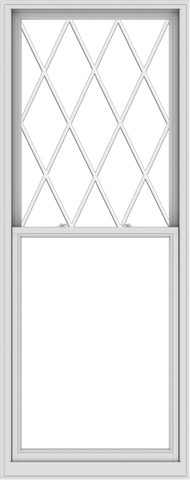 WDMA 38x96 (37.5 x 95.5 inch)  Aluminum Single Double Hung Window with Diamond Grids