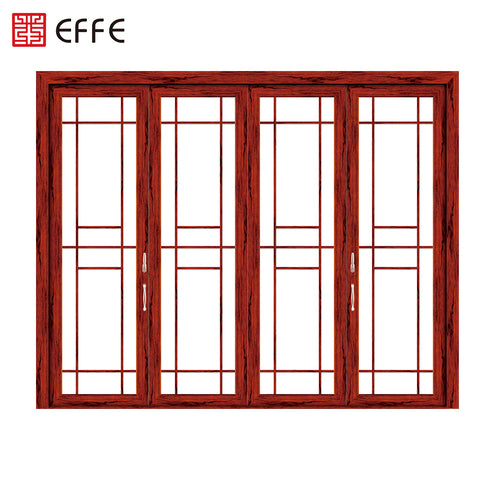 4 panel rail sliding doors external foshan burglar proof aluminum double glass heat insulation sliding door exterior on China WDMA